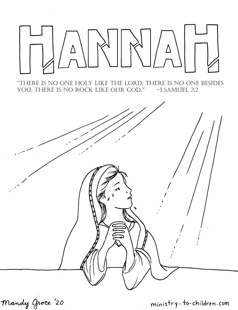 Hannah in the Bible Coloring Page