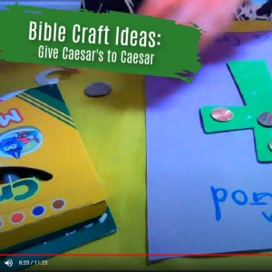 Giving To Caesar Craft Ideas for Sunday School