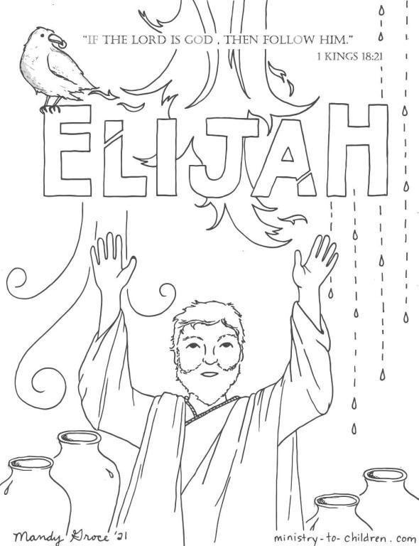elijah coloring page