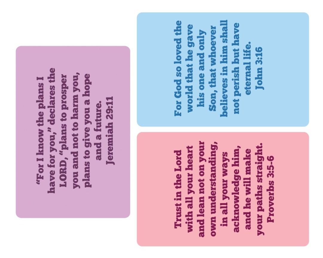 6x4 Memory Verse Bible Cards