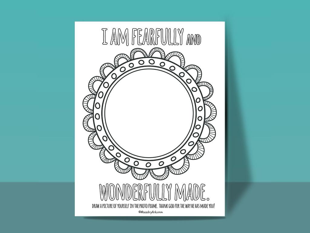 Fearfully And Wonderfully Made Printable Ministryark
