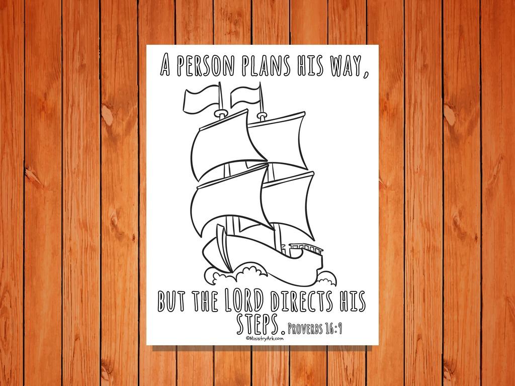Proverbs 16:9 Printable