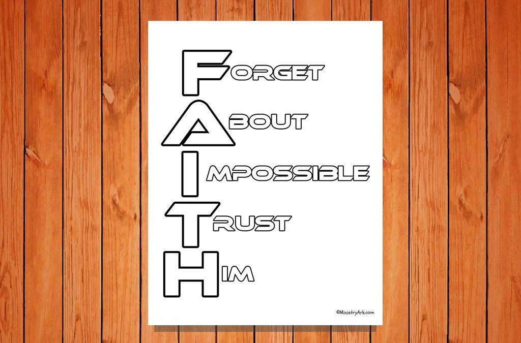 F.A.I.T.H Printable