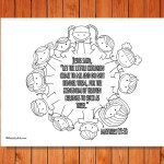 'Let the Little Children Come' Printable