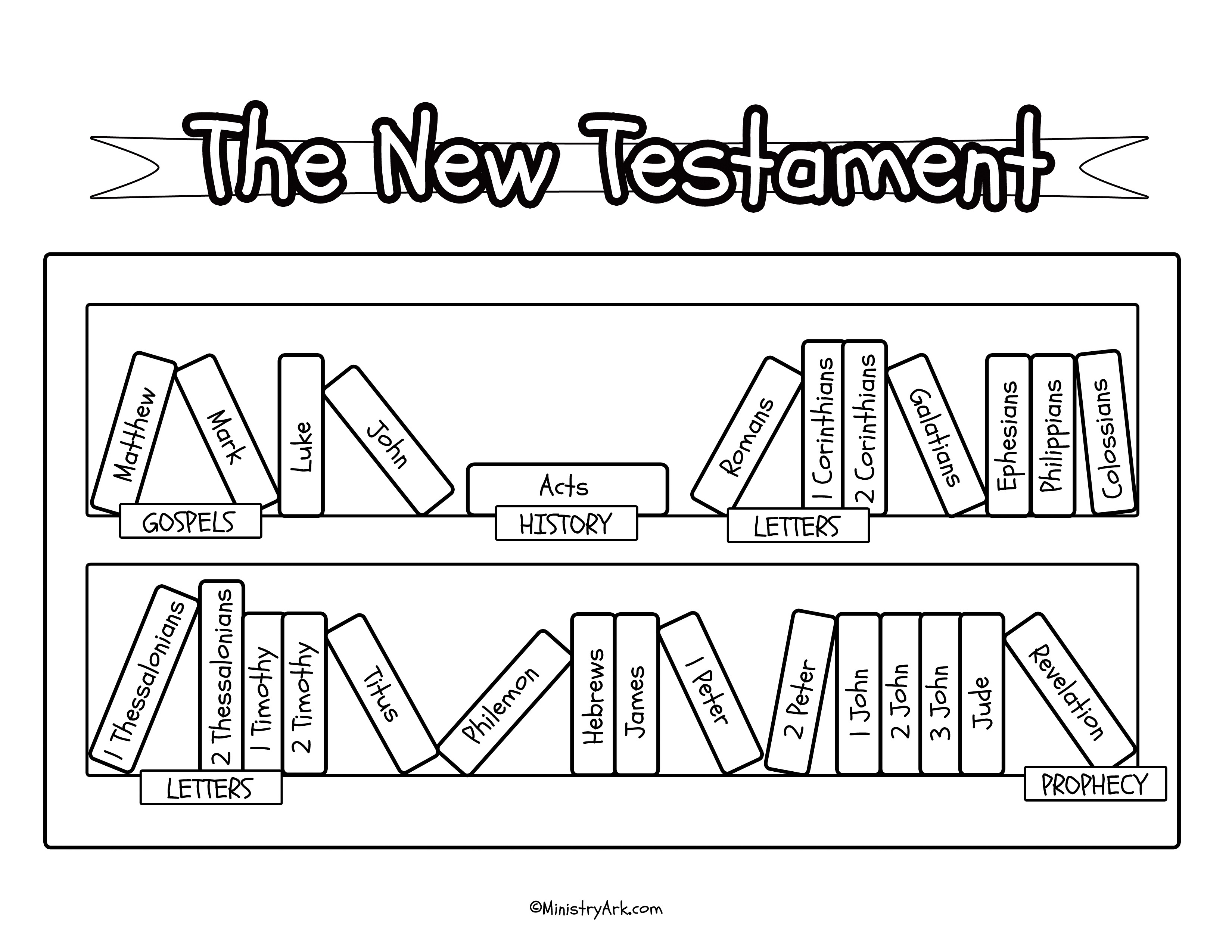 Bible Bookcase Printables Ministryark