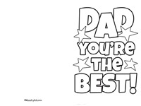 'Dad You're the Best' Card Printable