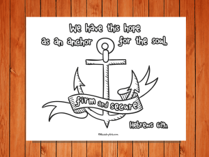 Click here for the 'Anchor for the Soul' printable