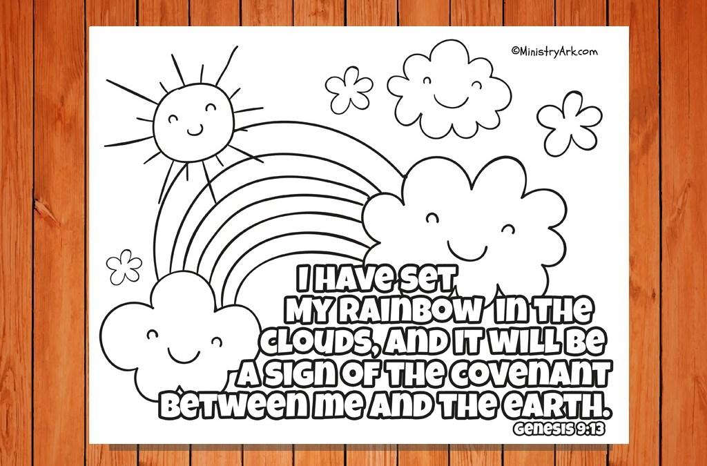 Set My Rainbow Printable Genesis 9 13 Ministryark