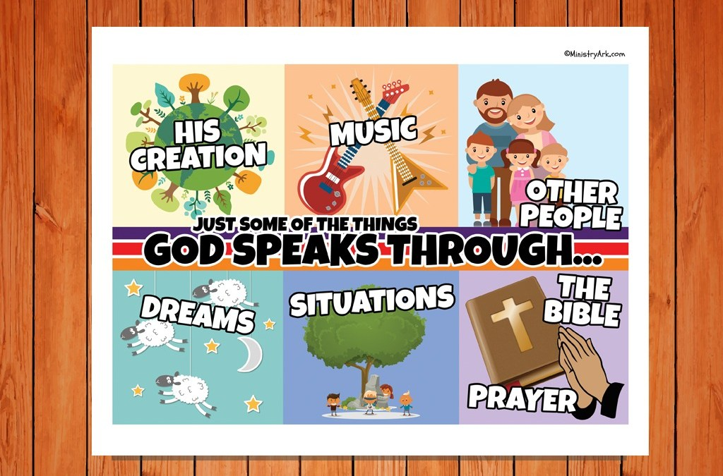 God Speaks Through Childrens Poster Ministryark