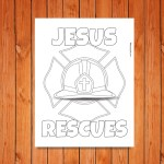 'Jesus Rescues' Printable