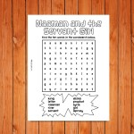 'Naaman' Wordsearch Printable