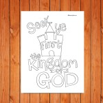'Seek Ye First' Printable (Matthew 6:33)