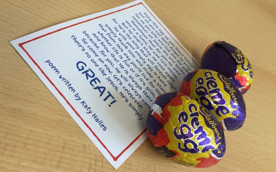 Creme Egg Easter Giveaway Poem Printables