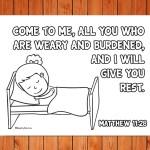 'Come to Me' Printable (Matthew 11:28)