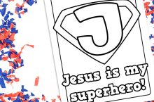 Jesus Is My Superhero Coloring Page