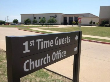 Cottonwood Creek Baptist Church Front Guest Sign