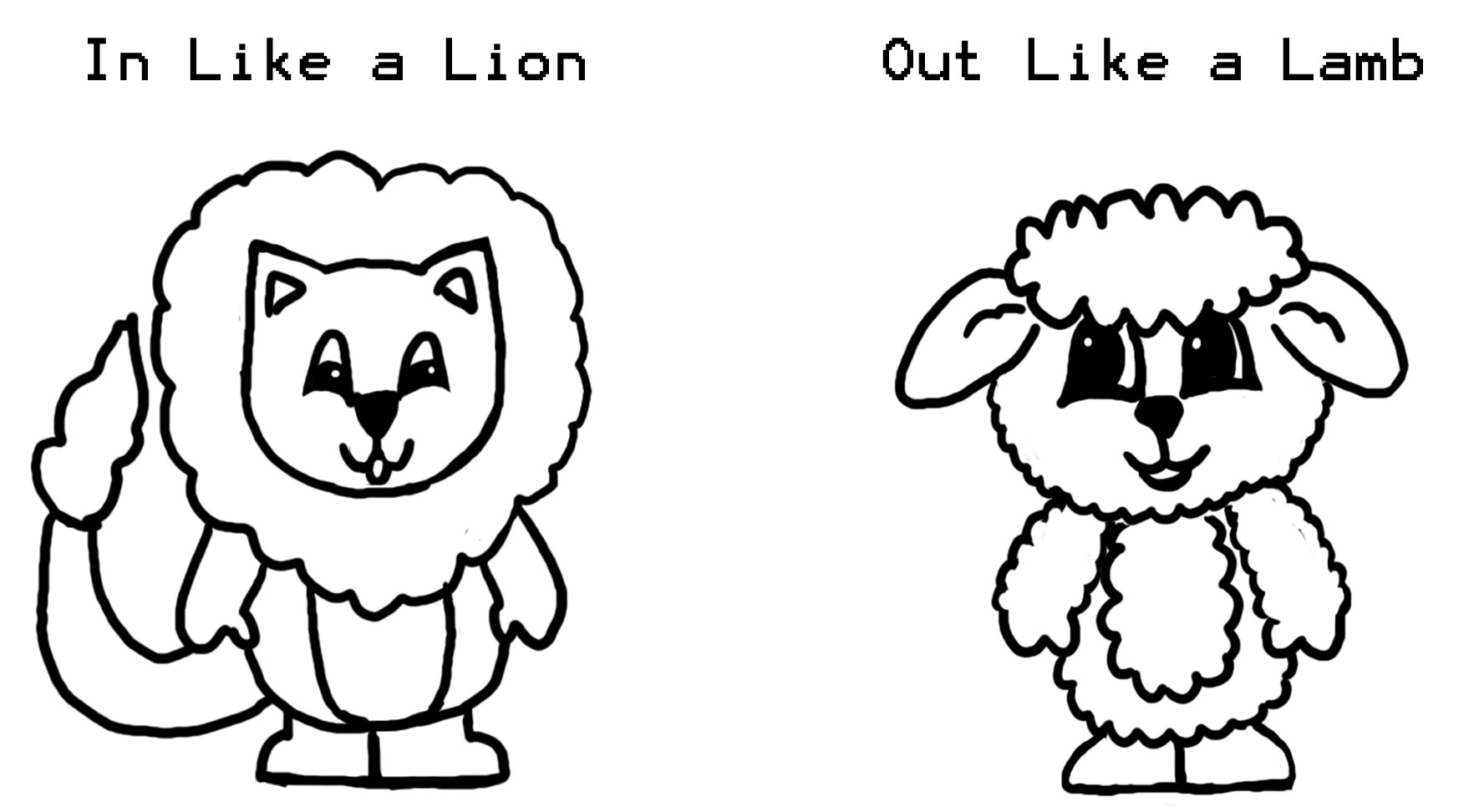 Lion And Lamb Preschool Coloring Pages