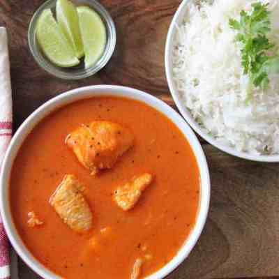 Fish Curry with Basmati Rice
