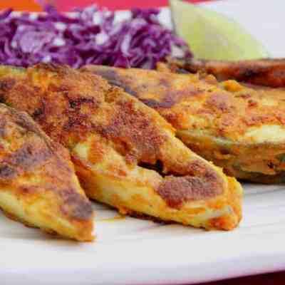 Pan fried Pompano {Pomfret}