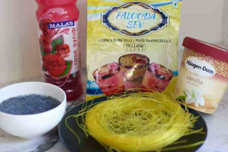 rose falooda ingredients