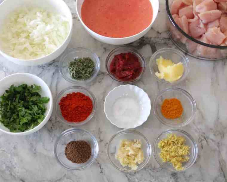instant pot paleo butter chicken ingredients