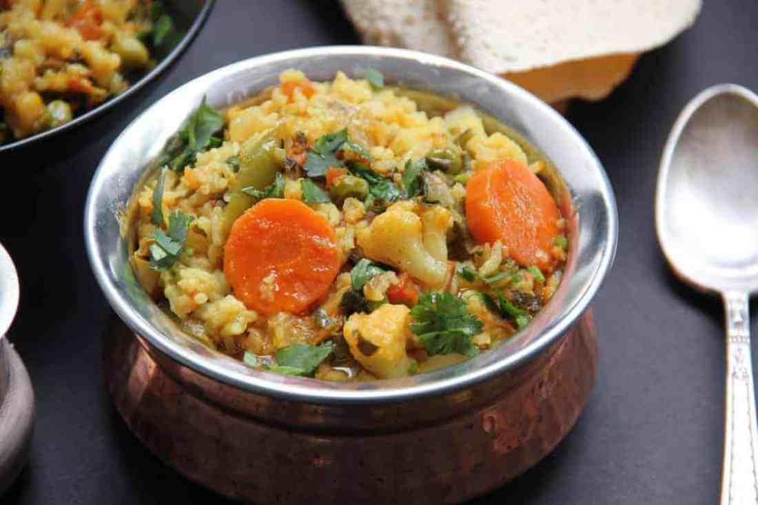 mixed lentils and veg khichdi