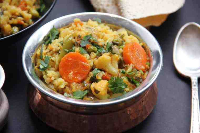 mixed lentils and veg khichdi