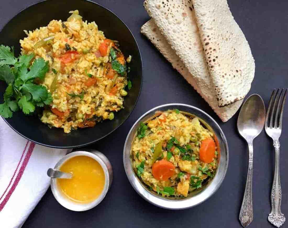 Mixed Lentils & Vegetable Khichadi