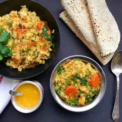 Mixed Lentils & Vegetables Khichdi – Instant Pot