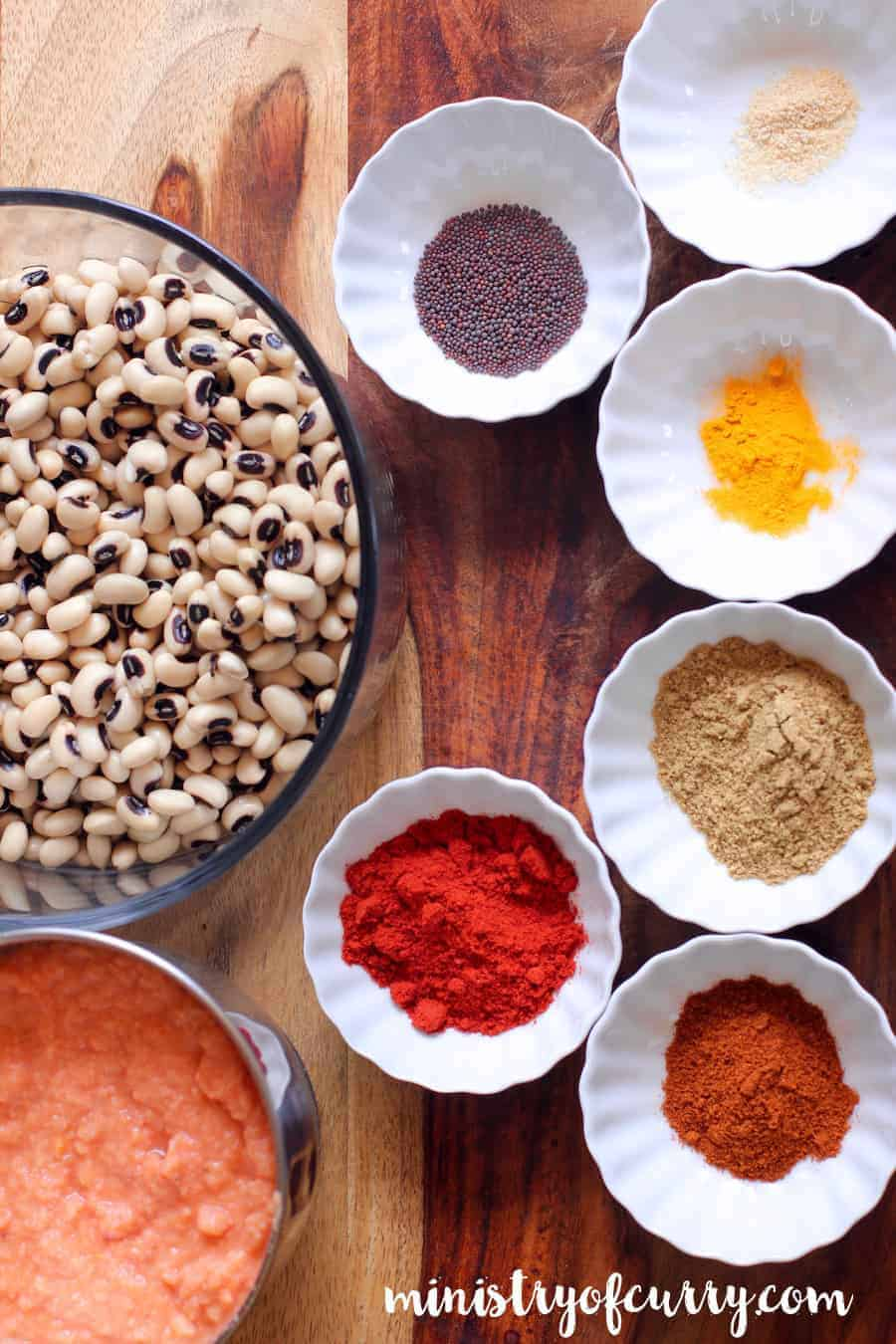 black eyed peas curry ingredients