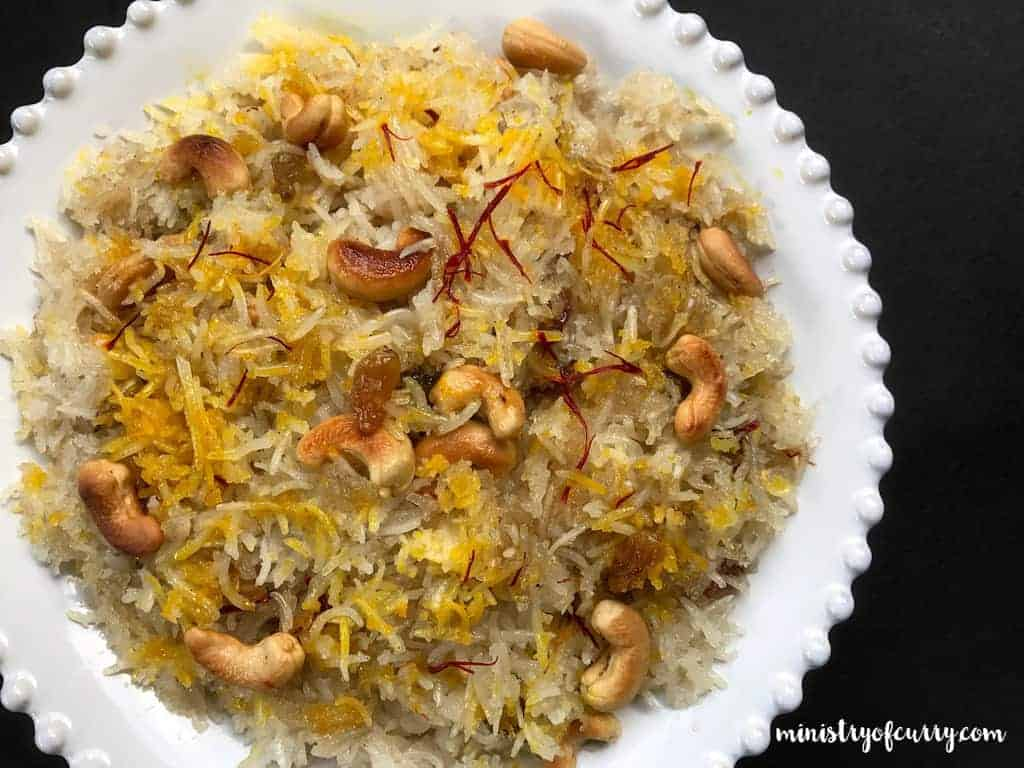 Sweet Coconut Rice - Instant Pot - ministryofcurry.com