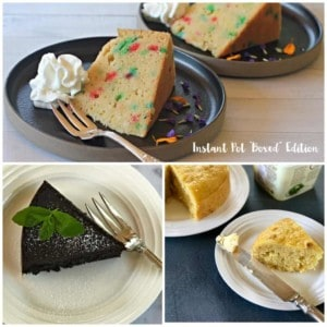 Instant Pot cake, brownies, bread