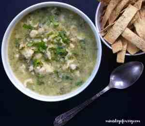 Quick White Chicken Poblano Chili