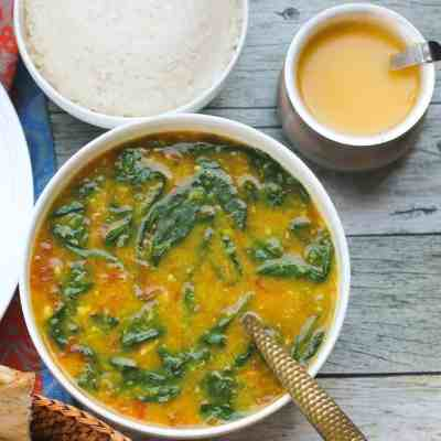 EASY Spinach Dal with Rice – Instant Pot