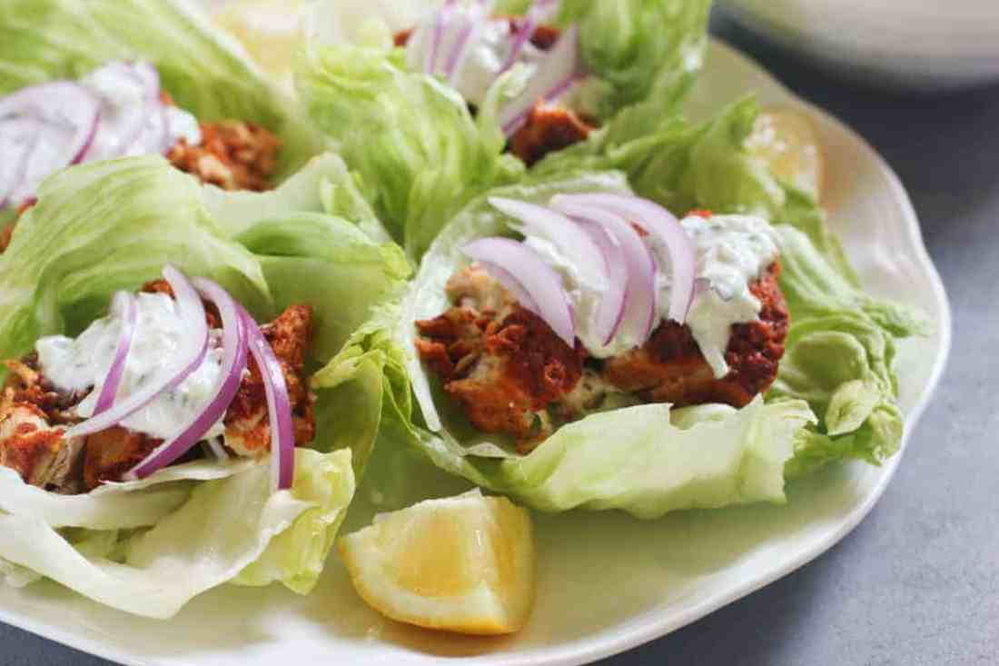 Tandoori Chicken Lettuce Wraps