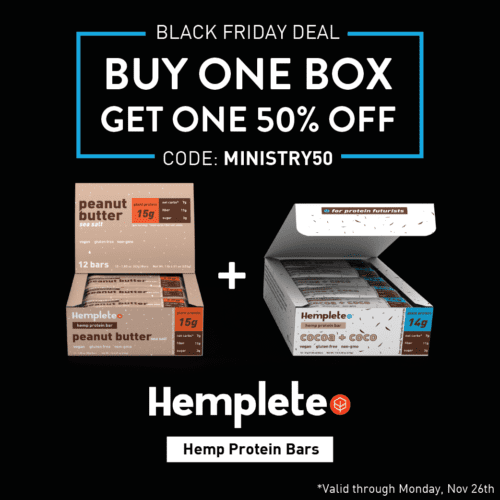 Hemplete Hemp Protein Bars (Ministry of Hemp Black Friday Hemp Deals)
