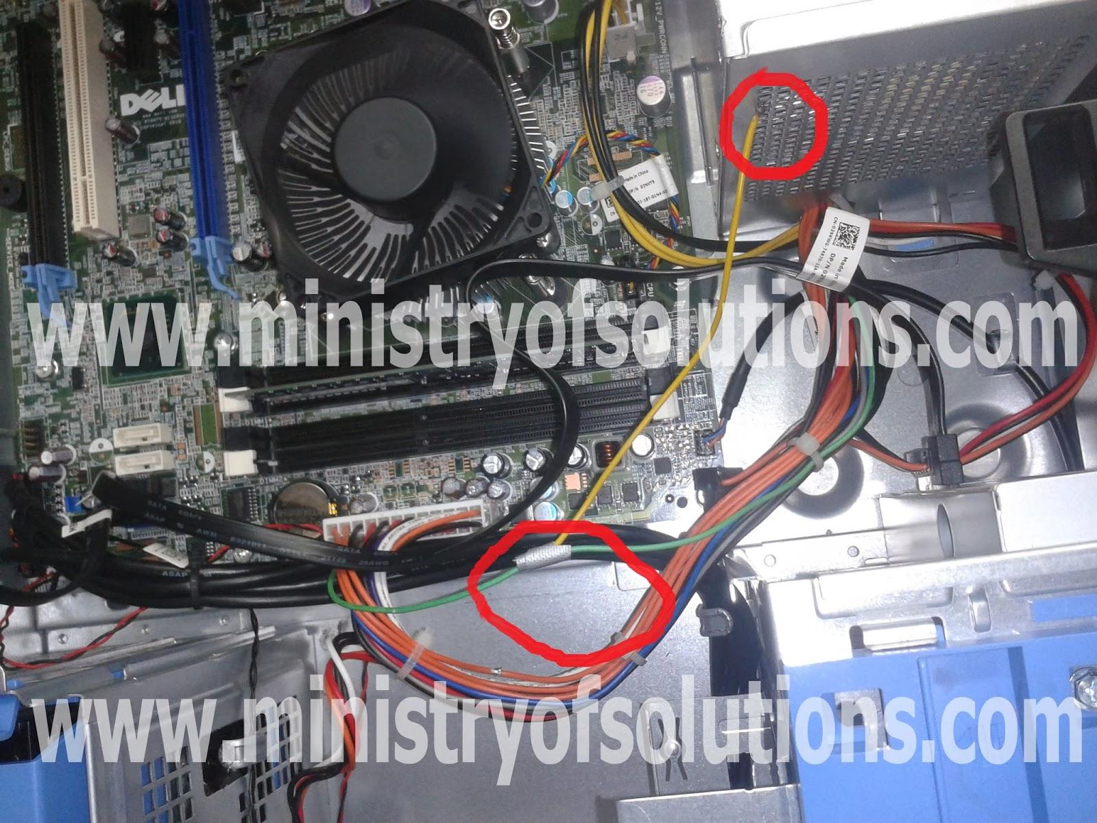 Solved Dell Desktop Blinking Amber Power Light Ministry Of Solutions Kabel Komputer Cpu