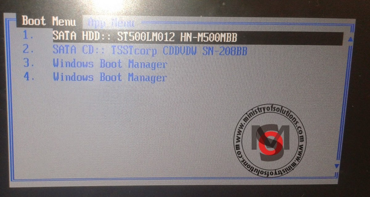 [Solved] Samsung NP300E5C stuck at boot menu