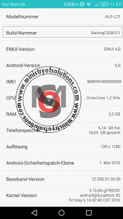 Huawei P8 Lite ALE-L21 BalongC52B311 Solution and upgrade to marshmallow