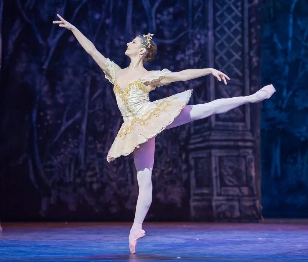 Alina Cojacaru dances the Grand Pas De Deux in English National Ballet's Nutcracker at the Empire Theatre, Liverpool on November 19, 2013. Photo: Arnaud Stephenson