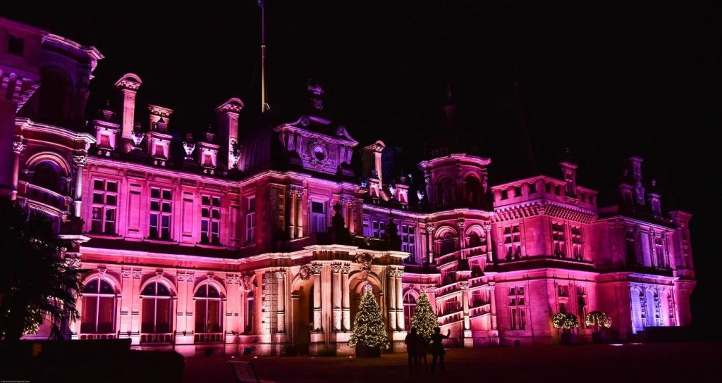 Waddesdon Manor at night by The National Trust. An amazing day out for families.
