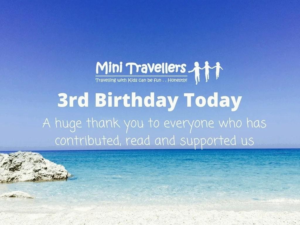 Mini Travellers 3rd Birthday Today www.minitravellers.co.uk