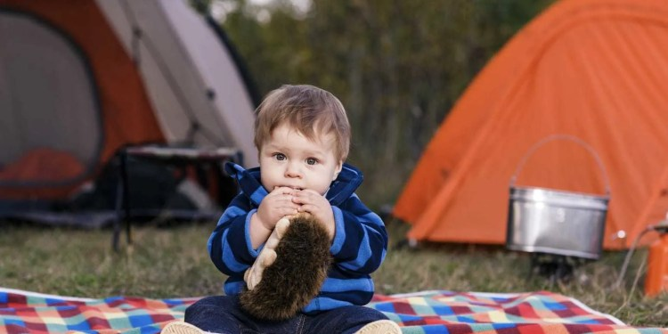 Camping with a Baby www.minitravellers.co.uk