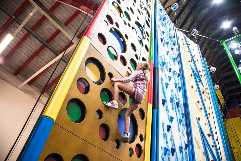 Awesome Walls Climbing Clip 'n' Climb Liverpool www.minitravellers.co.uk