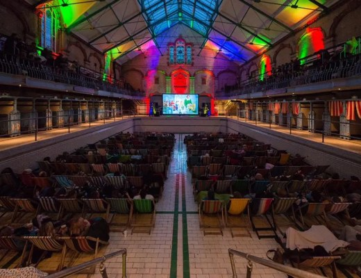The Village Screen's Presents Frozen at Victoria Baths Manchester www.minitravellers.co.uk