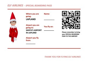 Print your own fun boarding pass for Santa's Lapland!