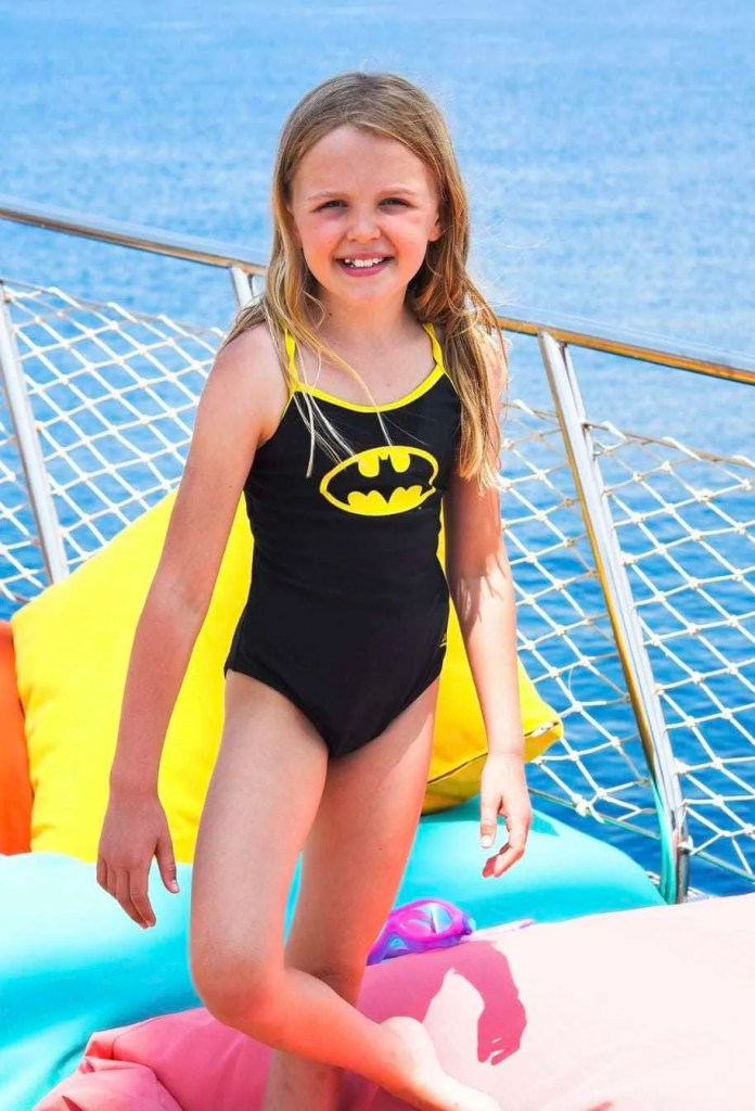 A batman swimsuit from the DC Super Heroes Swimwear from Zoggs