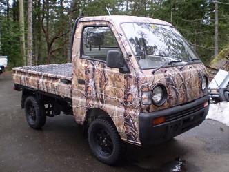 1992 Suzuki Carry 4x4 Lifted Camo Truck