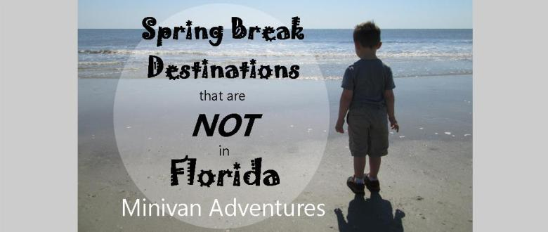 It is okay to go someplace other than Florida for Spring Break. Really!