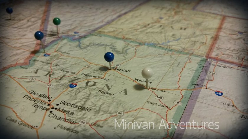 We track our family vacations with a map that hangs on our living room wall. Our children love adding pins to mark where we have been after each vacation.